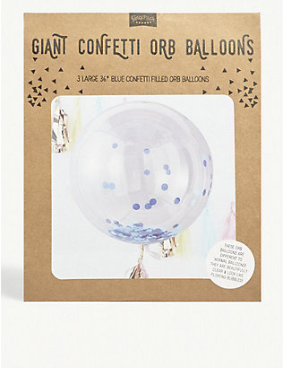 GINGER RAY: Giant Confetti Orb Balloon wedding decorations pack of three
