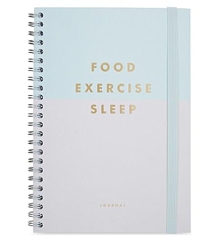 kikki k food exercise sleep journal selfridges com