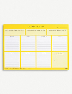KIKKI.K Inspirational A4 weekly planner pad