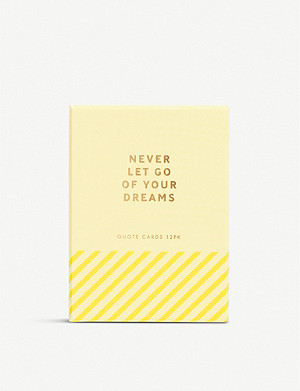 KIKKI.K Inspirational quote cards with wooden stand pack of 12