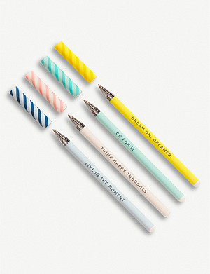 KIKKI.K Slim ballpoint inspirational pens pack of four