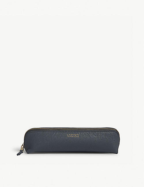 PRINT WORKS L'Artiste saffiano leather small pencil case