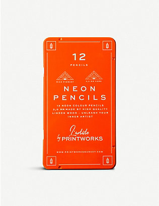 PRINT WORKS: L'artiste neon colour pencils set of 12