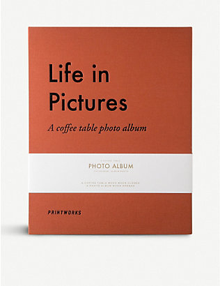 PRINT WORKS: Life in Pictures photo album 31.5cmx16cm
