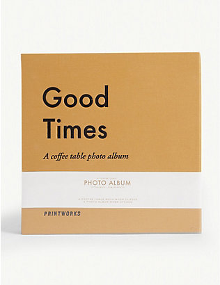 PRINT WORKS: Good Times coffee table photo album