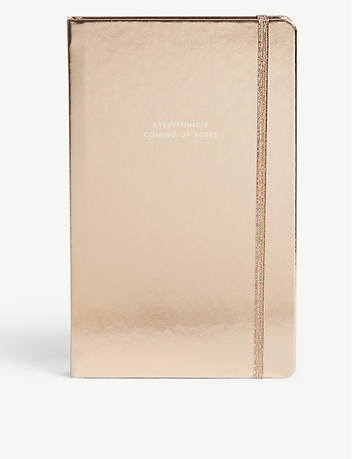 KATE SPADE NEW YORK Large metallic notebook