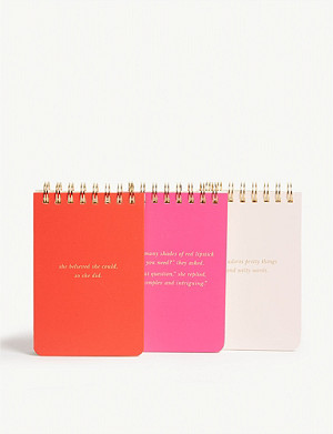 KATE SPADE NEW YORK She Statements set of 3 notepads