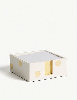 KATE SPADE NEW YORK Gold-toned dot note holder