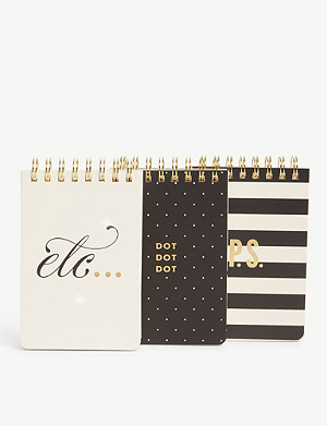 KATE SPADE NEW YORK Spiral notepads set of 3