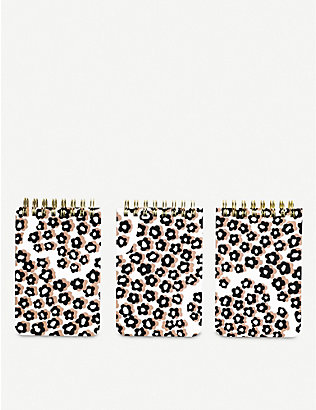 KATE SPADE NEW YORK: Flair Flora spiral notebooks pack of three