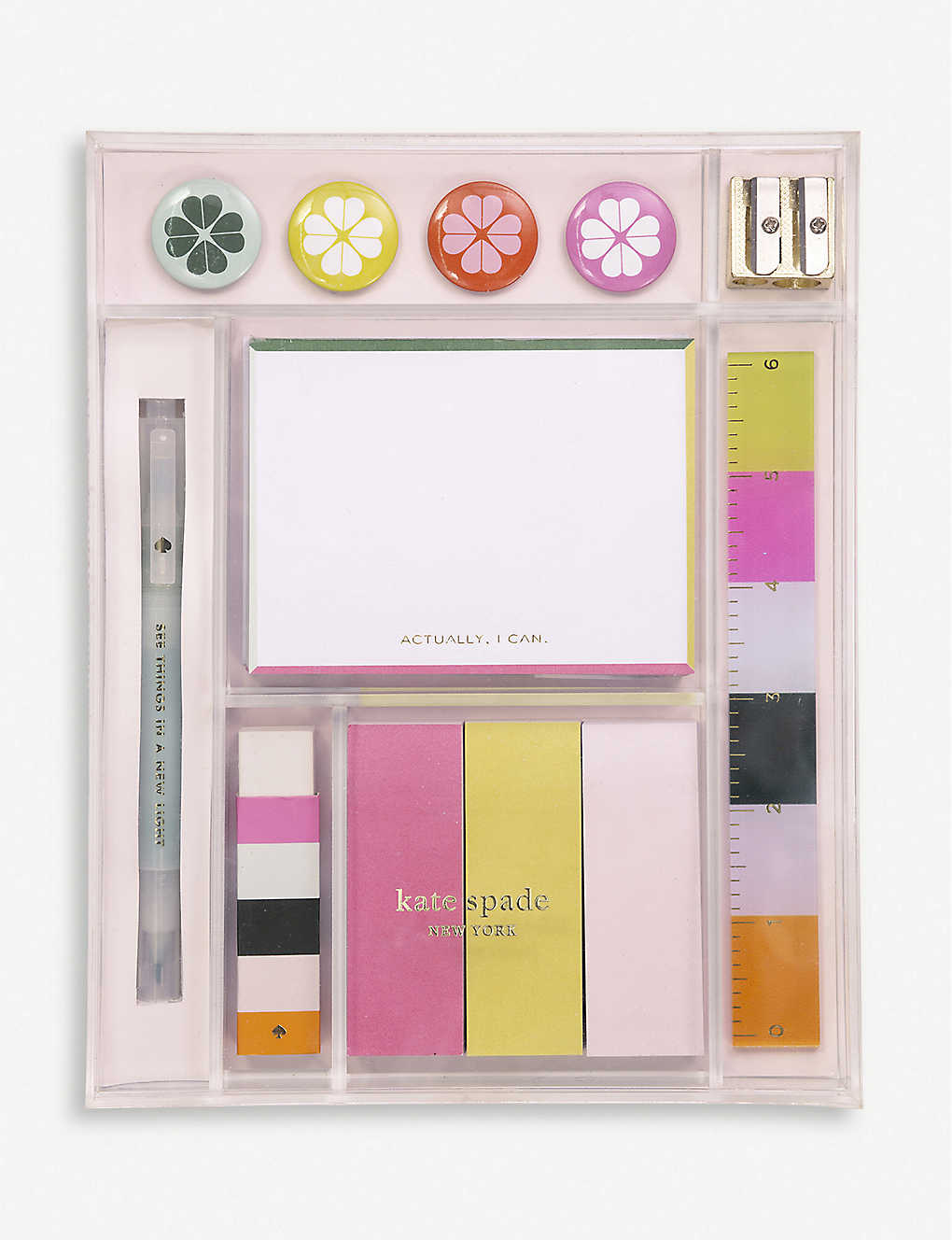 KATE SPADE NEW YORK: Actually I Can stationery tackle box