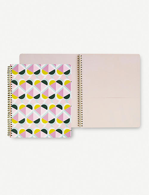 KATE SPADE NEW YORK Geospade spiral-bound notebook 23.4cm x 27.9cm