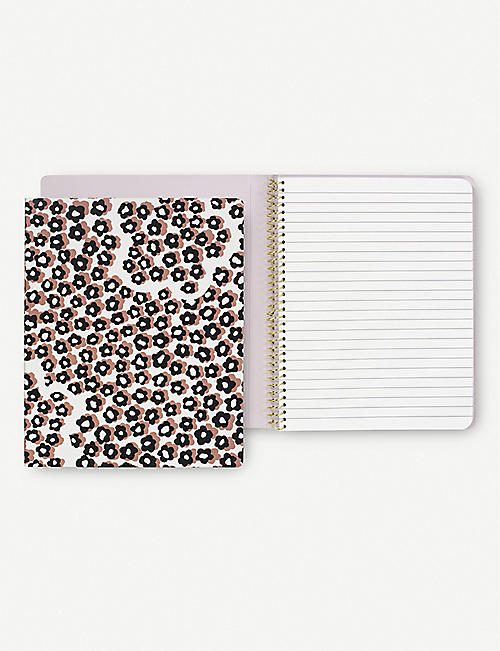 KATE SPADE NEW YORK: Flair Flora spiral notebook 21cm x 17cm