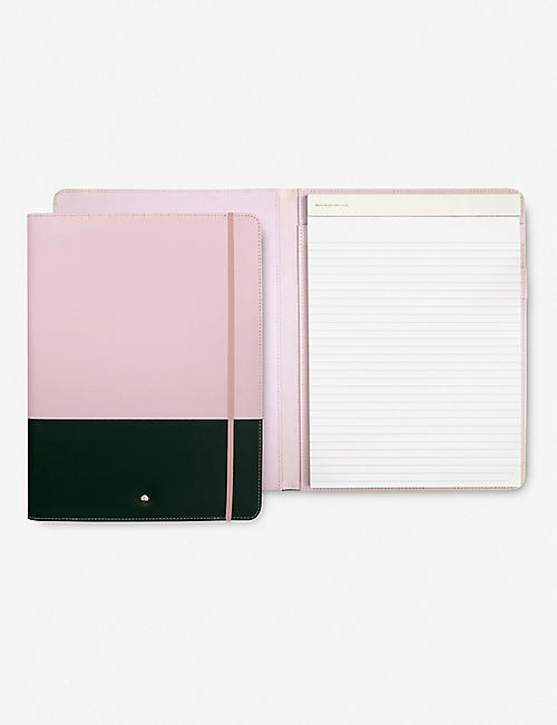 KATE SPADE NEW YORK Block-panelled notepad folio