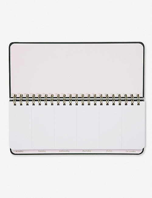 KATE SPADE NEW YORK What A Week weekly list pad 28cm x 11.4cm