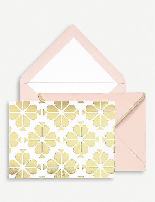 KATE SPADE NEW YORK: Spade Flower notecards set of ten