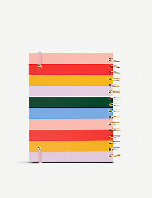 BANDO 17-month medium Work Hard striped planner 20x16.5cm
