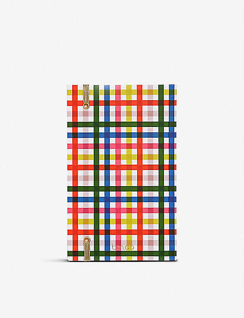 BANDO Checked 17-month annual planner 20.6cm x 13cm