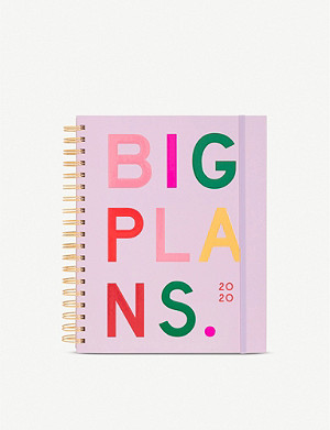 BANDO Big Plans-print 12-month annual planner 25.4cm x 20.3cm