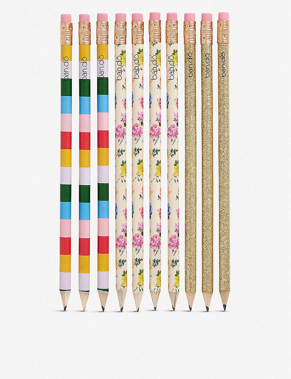 BANDO: Coming Up Roses graphite pencil set of 10