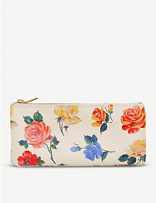 BANDO: Coming Up Roses floral-print faux-leather pencil case
