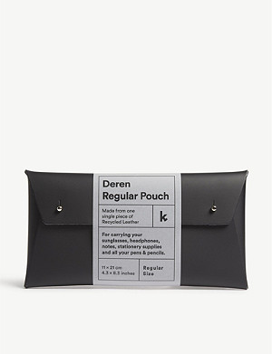 WALK WITH ME Deren regular recycled leather pouch