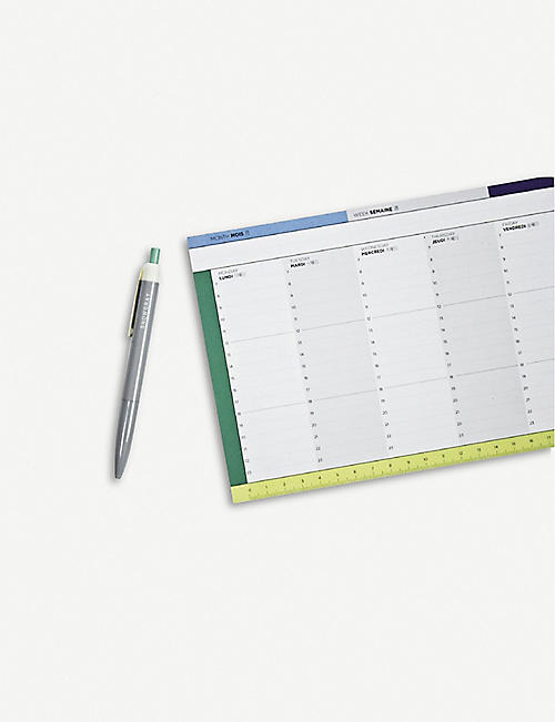 PAPIER TIGRE Weekly recycled desk planner