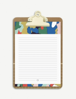 PAPIER TIGRE The Bark graphic-print notepad and clipboard 23cm