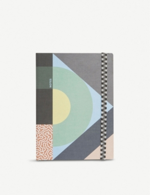 PAPIER TIGRE The Roundabout graphic-print A5 notebook 21cm