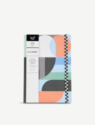 PAPIER TIGRE The Faubourg graphic-print A5 notebook 21cm