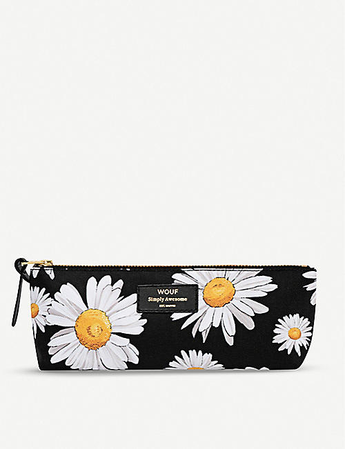WOUF Daisy-print canvas case