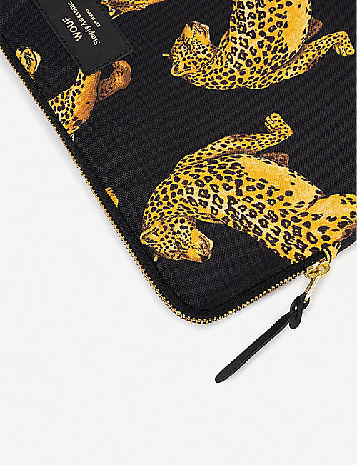 "WOUF Black Leopard 13"" laptop case"