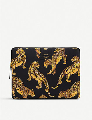 "WOUF: Black Leopard 13"" laptop case"