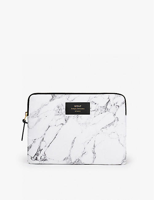 WOUF: White Marble iPad case