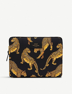 WOUF Black Leopard iPad case