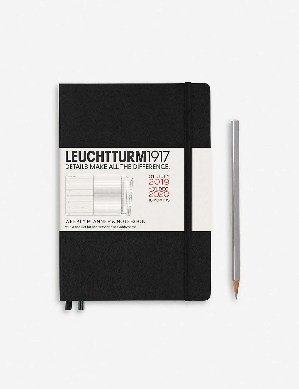 18-month weekly planner and notebook A5