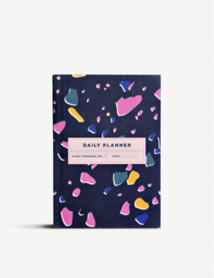 THE COMPLETIST Terrazzo undated daily planner