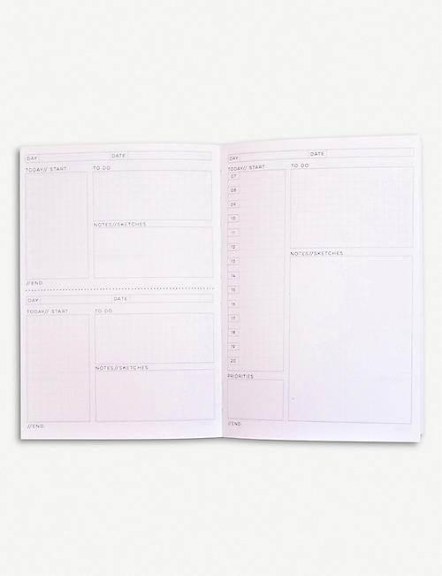 THE COMPLETIST Leaf Scribble undated daily planner