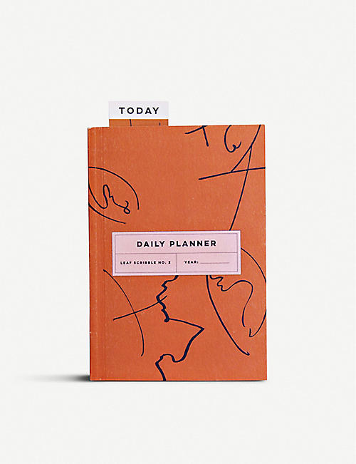 THE COMPLETIST: Leaf Scribble undated daily planner