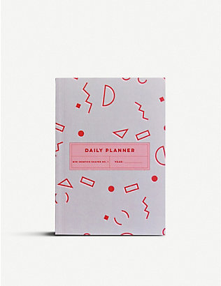 THE COMPLETIST: Memphis Shapes undated daily planner