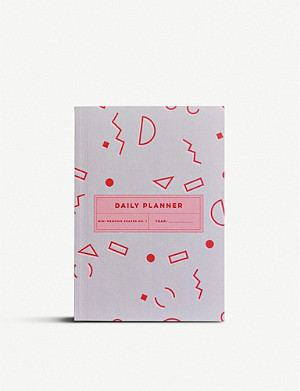 THE COMPLETIST Memphis Shapes undated daily planner