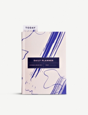 THE COMPLETIST Scribble Brush undated daily planner