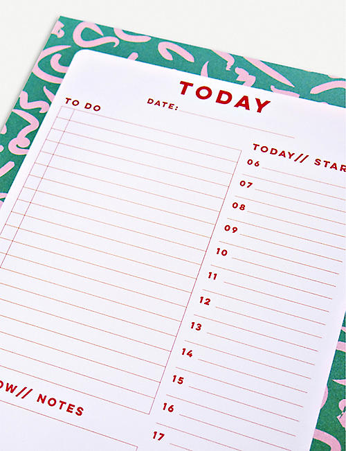 THE COMPLETIST Squiggle Daily Planner Pad