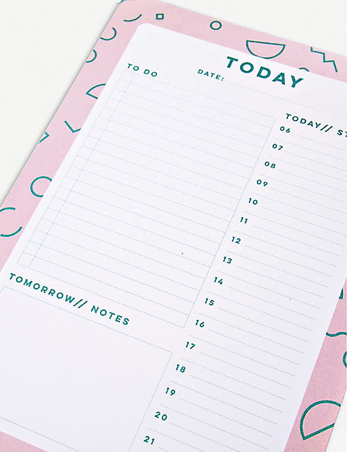 THE COMPLETIST Memphis Shapes Daily Planner Pad