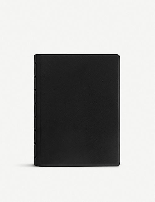 FILOFAX Saffiano faux-leather notebook A5