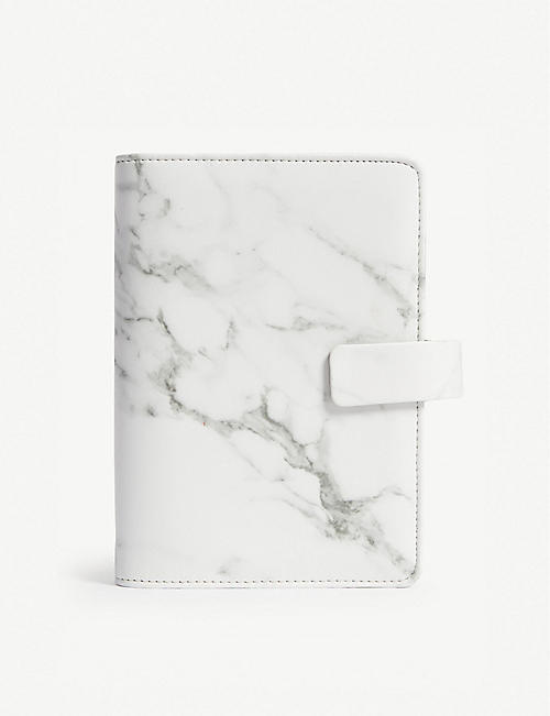 FILOFAX: Patterns A6 marbled faux-leather personal organiser 2018-19