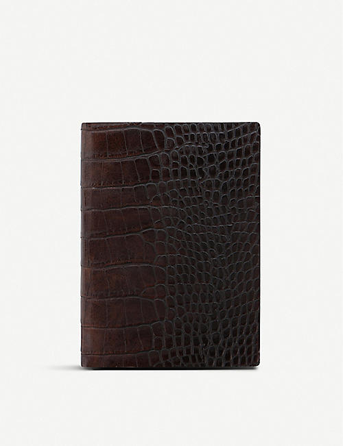 LETTS Crocodile-effect leather 2020 week-to-view diary A6