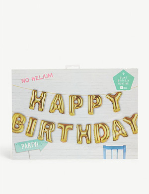 TALKING TABLES Happy Birthday balloon bunting 34cm