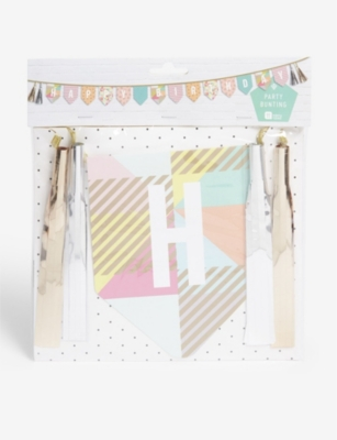 TALKING TABLES Happy Birthday party bunting 3.5m