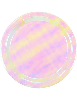 TALKING TABLES: We Heart Unicorns iridescent paper plates